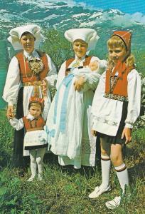National Costume For Hardanger Norge Norway Vintage Fashion Postcard