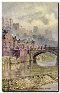 Postcard Old Durham Framwellgate Bridge