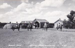 Michigan Blaney Park Dude Ranch Horseback Riding Real Photo