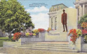 Lincoln Statue, State Capitol Grounds, SPRINGFIELD, Illinois, 30-40s