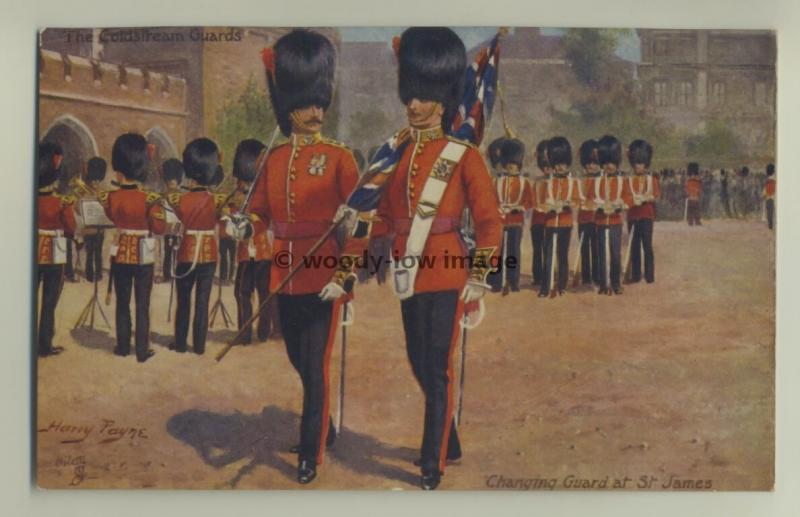 su1188 - The Coldstream Guards , Art by Harry Payne - Tucks postcard 9993