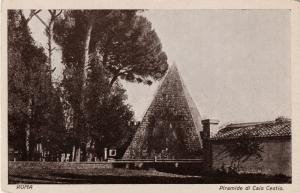 Piramide di Caio Cestio, Roma (Caius Cestius pyramid, Rome), Italy, c. 1920s
