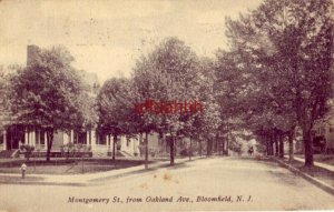 MONTGOMERY ST., FROM OAKLAND AVE., BLOOMFIELD, NJ. 1912