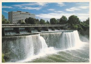 The Rideau Falls Drops into the Ottawa River, Ottawa, Ontario, Canada, 60's-80's