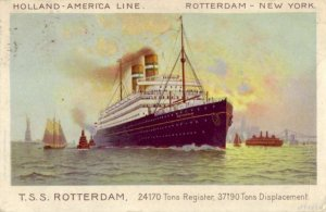 1908 T.S.S. ROTTERDAM HOLLAND-AMERICA LINE ship