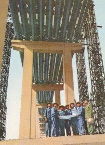 Workers Building Beams On Nanking River Bridge Chinese China Postcard