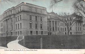 Iowa City IA~State University~Liberal Arts Bldg~Williams Photoette Bluesky c1910