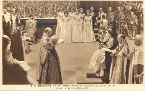 Queen Elizabeth II coronation british royalty queen Westminster Abbey