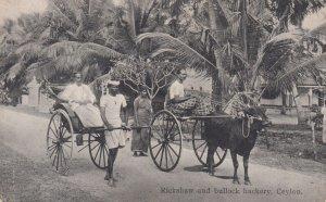 Rickshaw & bullock hackery , Ceylon , 00-10s