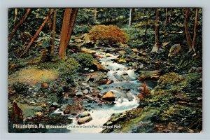 Philadelphia PA, Wissahickon Creek, Fairmount Park Vintage Pennsylvania Postcard