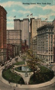 New York City, NY, Bowling Green, Antique Vintage Postcard g1919