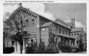 Shreveport Louisiana~Kings Highway Christian Church~1940s B&W Postcard
