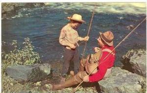 Father & Son Fish, River, Ashland, Mississippi, 1940-60s