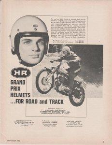 Arai Hirotake Grand Prix Helmets for Motorcycles 1966 Print Ad