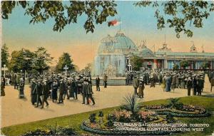 Toronto Ontario~Gooderham Fountain~Crowds at Canadian Nat'l Exhibition~1924 PC