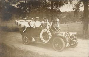 Early Car Auto Decorated For Parade c1910 Real Photo Postcard