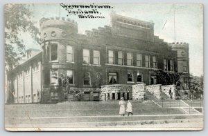 Ypsilanti Michigan~Eastern Michigan University~Gymnasium~Students Walkway~c1910