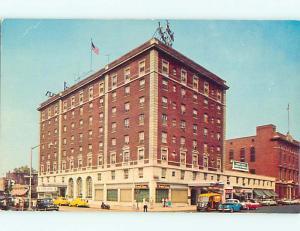Unused 1950's OLD CARS & SHOPS & WALT WHITMAN HOTEL Camden New Jersey NJ Q4663