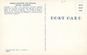 Onamia Minnesota~Lots of Lawn @ Crosier Monastery & Seminary~1957 Cars~Postcard