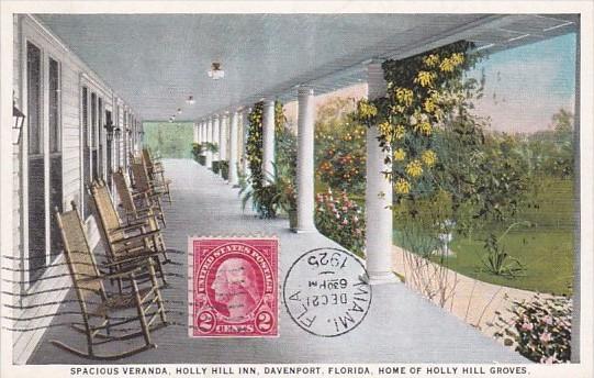 Spacious Veranda Holly Hill Inn Davenport Florida 1925