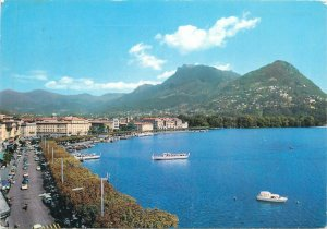 Switzerland Lugano lakeside view Postcard