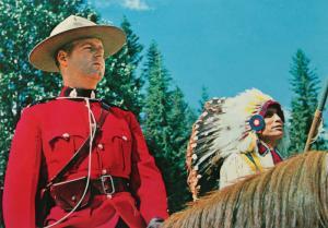 Officer RCMP Policeman Indian Chief Indigenous Head-dress Unused Postcard D32