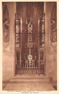Scotland, UK Old Vintage Antique Post Card Entrance to the Shrine Scottish Na...