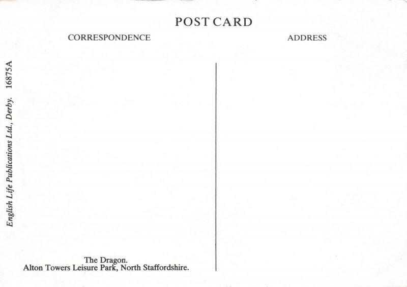 Postcard, The Dragon, Alton Towers Leisure Park, North Staffordshire 3Z