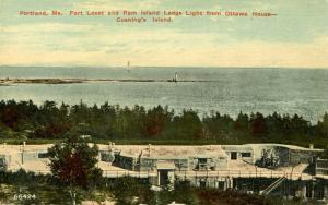 ME - Portland. Fort Levet, Cushing's Island