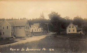 South Brooksville ME Street View Store & Post Office Real Photo Postcard