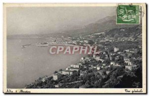 Old Postcard Menton General view