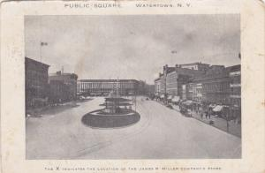 Public Square , WATERTOWN , New York , PU-1908