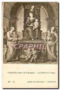 Postcard Old Piestro Vannucci says he Perugino The Family of the Virgin Museu...