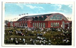 Early 1900s Coliseum Building, Eastern States Expo, Springfield, MA Postcard