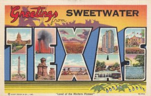 Large Letter TEXAS, Sweetwater, 30-40s