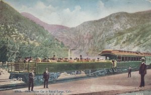 THE ROYAL GORGE, Colorado , 1900-10s; Observation Railroad Car
