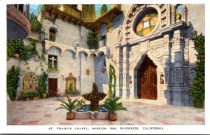 California Riverside Mission Inn St Francis Chapel