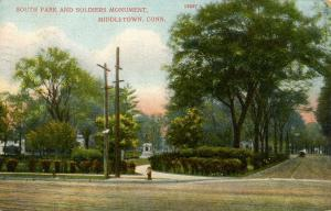 CT - Middletown.  South Park & Soldiers' Monument