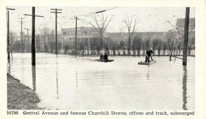 KY - Louisville. 1937 Flood. Central Avenue, Churchill Downs