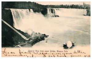 New York  Niagra Falls  View from Upper Bridge