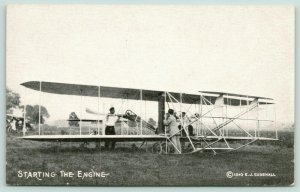 Closeup of Biplane @ Early Aviation Meet in Chicago~August 1911~Postcard B&W