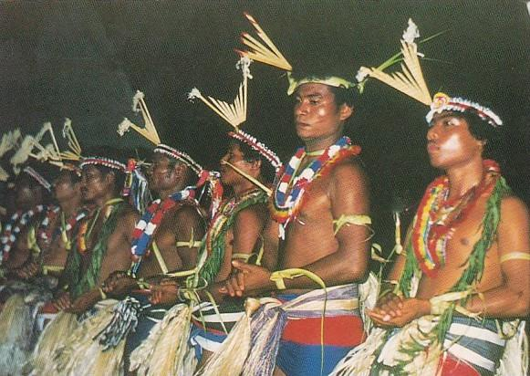 Micronesia Traditional Male Dancers Of Yap