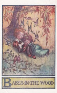 Babes in the Wood Asleep Under Tree,1920-30s ; Flora White