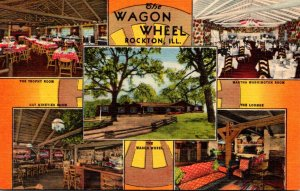 Illinois Rockton The Wagon Wheel Restaurant Multi View Curteich