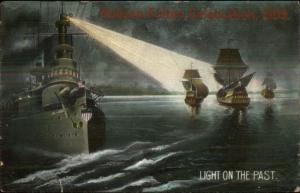 1909 Hudson Fulton Celebration Battleships & Older Ships Postcard