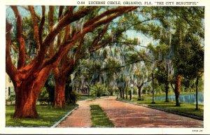 Florida Orlando Lucerne Circle Curteich