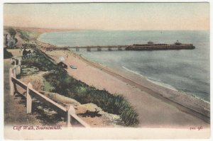 Dorset; Cliff Walk, Bournemouth PPC By FGO Stuart, 1905, To C Hulbert, Bristol
