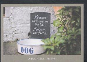 Alcohol Postcard - Public House Signs - The Red Lion etc - Dog Bowl T5378