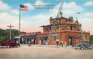 WISCONSIN DELLS, WI   Native American  Parsons Indian Village  1939  Postcard