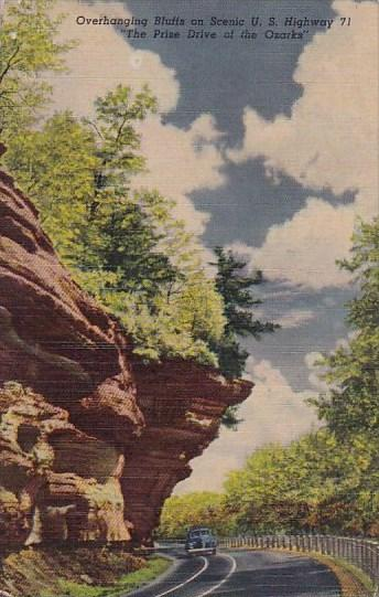Overhanging Bluffs On Scenic U S Highway 71 The Prize Drive Of The Ozarks Ark...